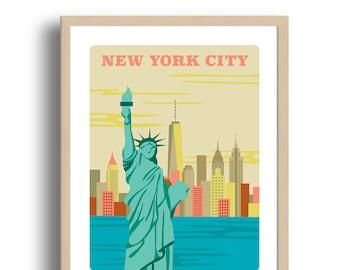 New York City Art Print - Home Decor - New York city art - Wall Art - Museum Art Print - Giclée Art- City art print - Prints Wholesale
