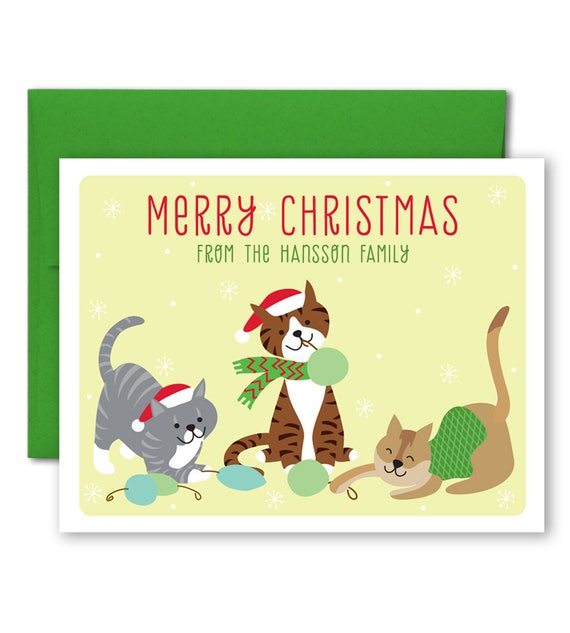 Personalized Christmas Card Custom Holiday Pet Christmas Etsy