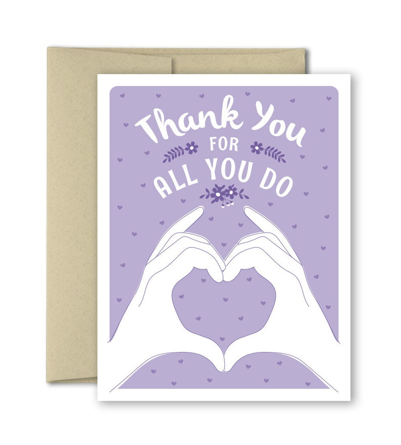 Thank you notes Note Cards For Teacher For Nurse Blank Thank you Card Thank You For All You Do For Frontline worker For Doctor