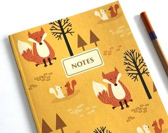Notebook Journal - Woodland notebook - Woodland Animals - Lined notebook - Cute journal - Stationery Gift - Writing Journal - Notebook set