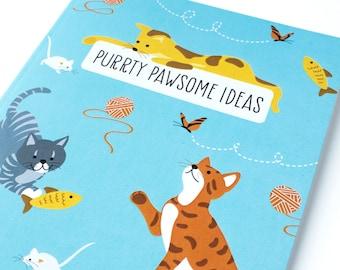 Notebook Journal - Cats notebook - Animal notebook - Lined notebook - Cute journal - Stationery Gift - Writing Journal - Notebook set -Cats