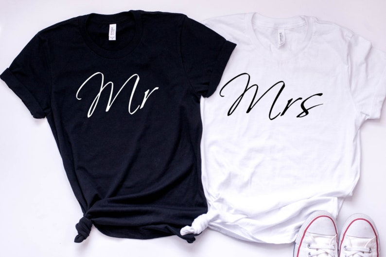 5848ca1b6 Mr and Mrs T Shirt Mr and Mrs Husband and Wife T Shirt   Etsy