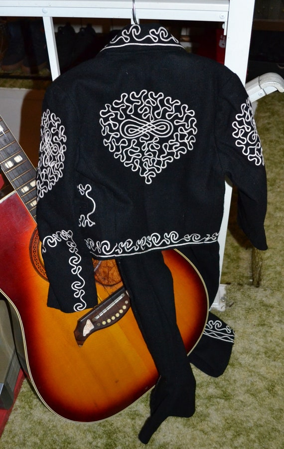 1950s Boys Embroidered 3 Pc Charro Mariachi Suit