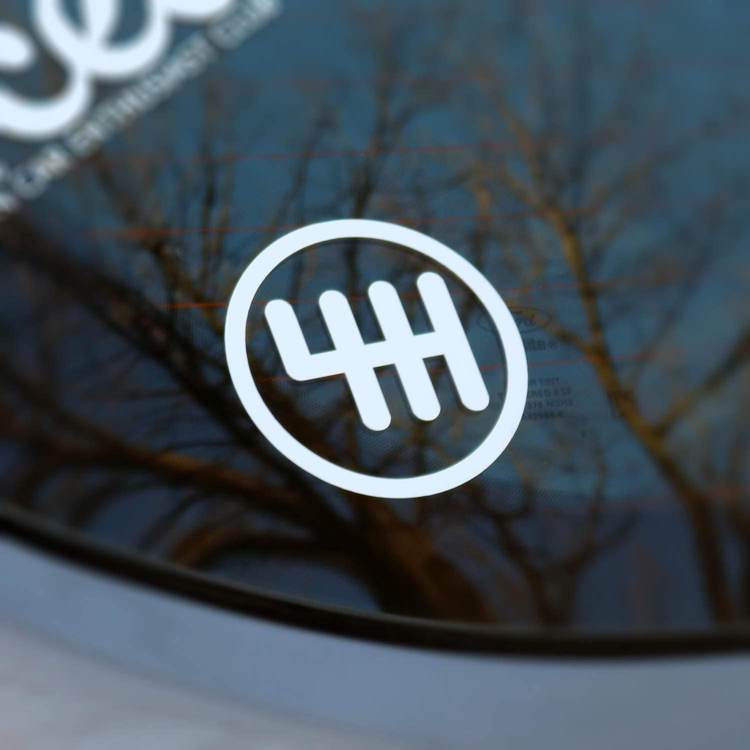 6 Speed Vinyl Decal Sticker Manual Transmission Stick Manual Guide
