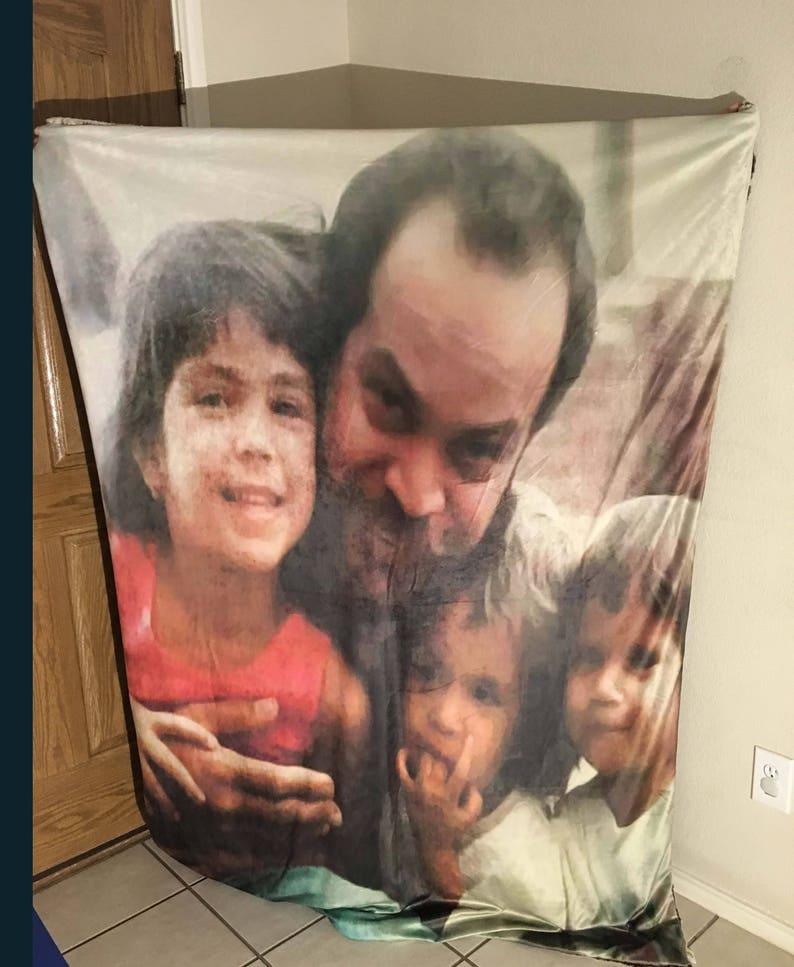 Custom Blanket Personalized Blanket Throws Portrait Blanket Photography Blanket Minky Blanket Keepsake Baby Blanket Gift Blanket