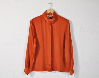 dbb5a61c799e73 Silky Orange Blouse