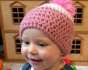 Baby Bobble Beanie - Baby Girl - Baby Boy - Baby Gift - Baby Hat - Baby Beanie Hat - Beanie for Baby - Bobble Hat - Bobble Beanie - Cosy