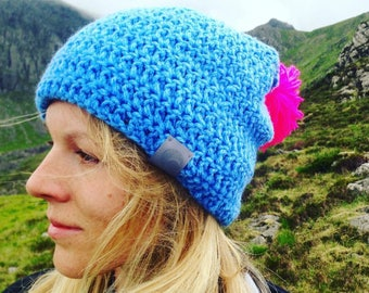 Bold Bobble Beanie - Beanie Hat - Bobble Hat - Beanie Women - Beanie Men - Slouchy Hat - Slouchy Beanie - Fleece Lined Hat - Cosy - Cosy Hat