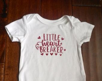 Little Heart Breaker Glitter Onesie
