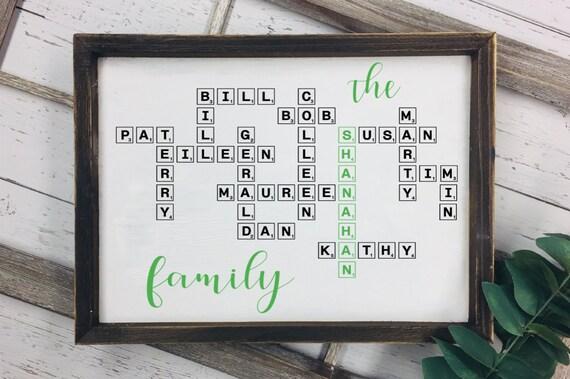 garantie de haute qualité gamme exclusive code promo Scrabble mots croisés famille signe / personnalisé planche de SCRABBLE /  pendaison Scrabble signe
