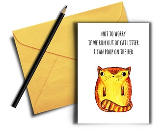 Funny Quarantine and Isolation Card, Pun Card, Digital Download, Stuck At Home, Stay Home Card, Birthday Card, Funny Cat Card, Stay Safe