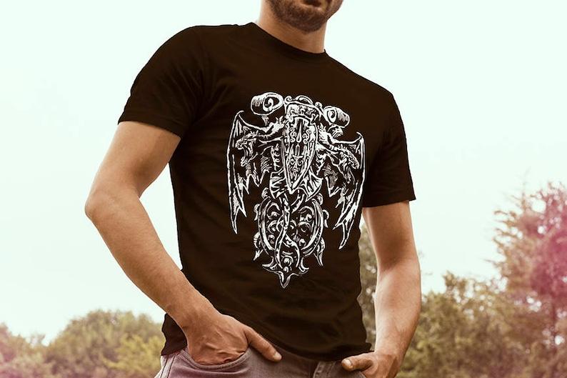 73fd5b08 Pagan T-shirt Gothic clothing Mens viking T-shirt Alternative | Etsy