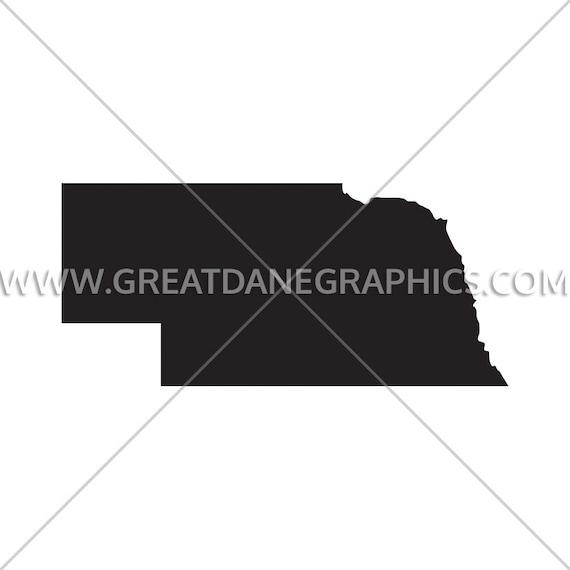 Nebraska Silhouette Nebraska Svg Nebraska Vector State Etsy