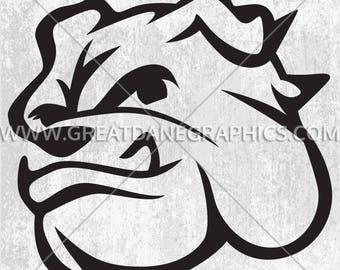 Cartoon Bulldog, Bulldog SVG File, Bulldog SVG Vinyl Cutting File, SVG File for Cricut, Bulldog Clipart Cutting Template, svg Download
