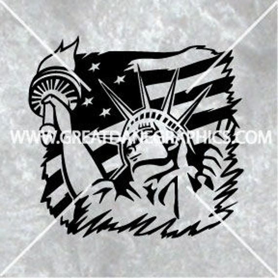 American Flag Svg American Flag Vector Statue Of Liberty Etsy