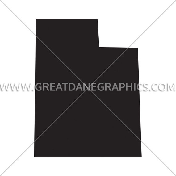 Utah Silhouette Utah Svg Utah Vector State Svg Svg File Etsy