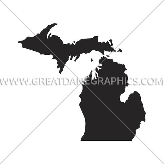 Michigan Silhouette Michigan Svg Michigan Vector State Svg Etsy