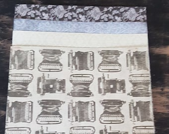 Scrap Booking Paper - Art Paper - Vintage - Black and White - Blue - Junk Journals  - Card Making