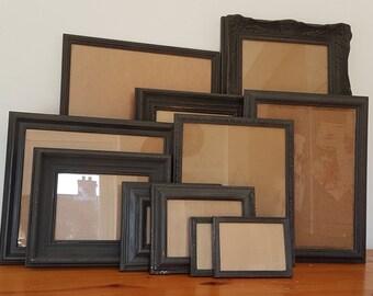 d2d6f87d89 BLACK Custom Painted Frames Sets of 5