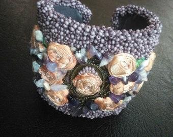 Tutorial Bead Embroidery Bracelet,  exclusive, chic,  original