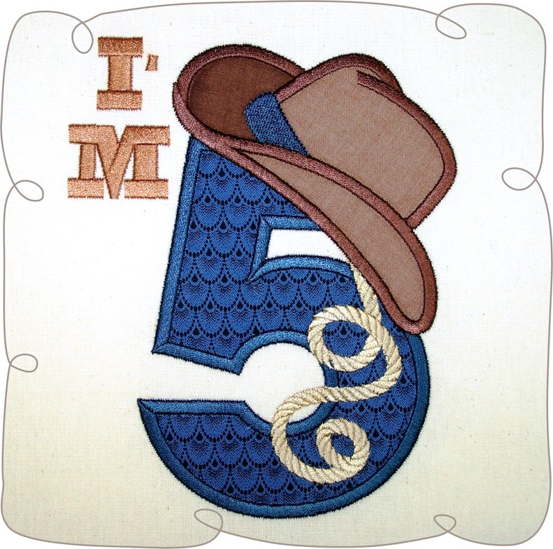 7379465a76423 Cowboy Hat applique Applique designs Cowboy applique birthday