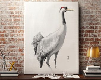 Crane Bird Art print. Wall Art, printable art, instant Download art by Artmagenta