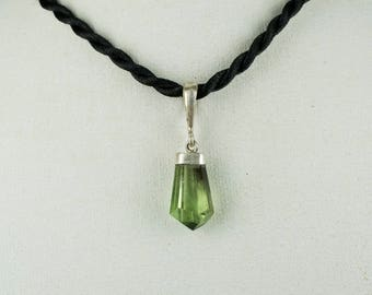 Green Peridote Pendant with 925 Sterling Silver