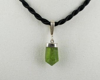 Beautiful Green Peridote Pendant with 925 Sterling Silver