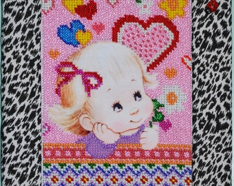 """Bead Embroidery Picture """"Girl"""""""
