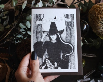 Witch of the Wood Risograph Greeting Card