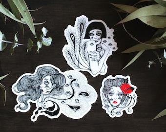 Sad Girl Series Vinyl Sticker