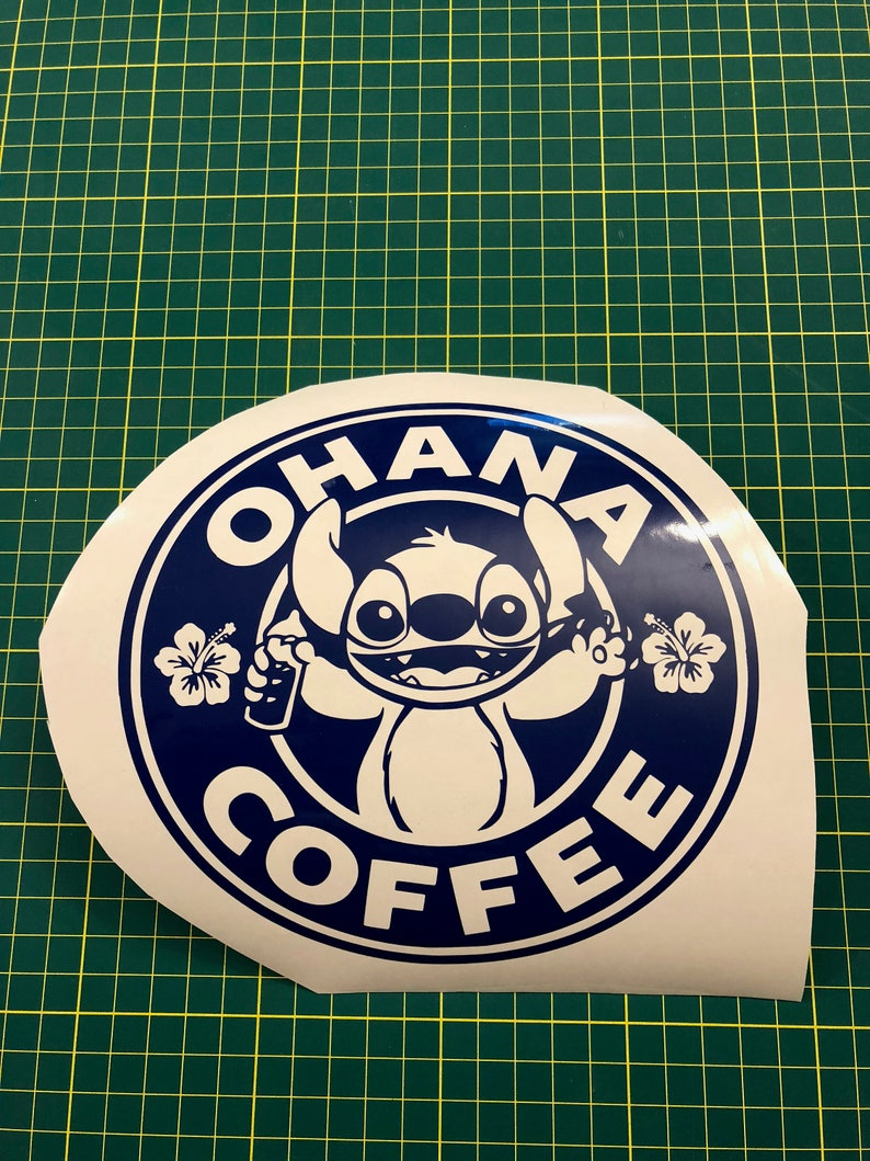 09275fc1398 Ohana Coffee Lilo And Stitch / Starbucks Style / Disney Vinyl Decal
