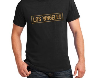 5721f4cd9f0 LAFC inspired Los Angeles Tee (black/gold)