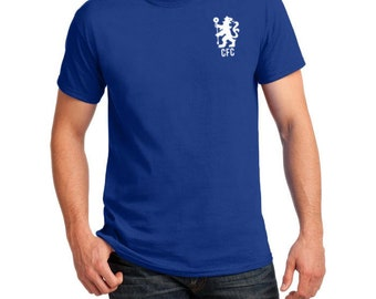 950285617 Chelsea Inspired Badge Soccer Tee (Admiral Blue/White)