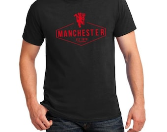 903e7db6db612 Manchester United Inspired Victory II Soccer Tee (Black/Red)