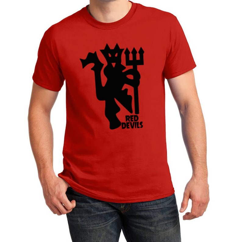 finest selection b99b8 3cec8 Manchester United Inspired Red Devil Soccer Tee (Red/Black)
