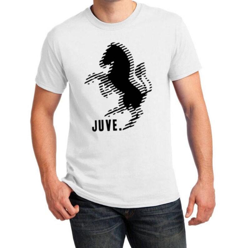 Juventus Inspired Zebra Soccer Tee White Black Juve Etsy