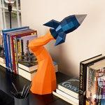 Low Poly Papercraft Rocket | Paper Rocket Desk Decor | Paper Craft Spaceship | Blast Off Rocket - Printable PDF Template Download