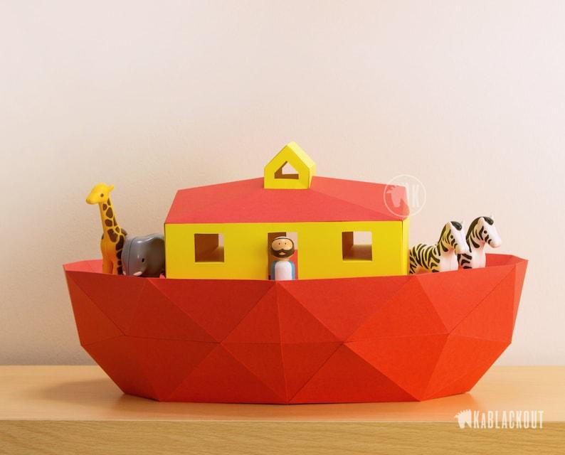 Noah's Ark Papercraft Template Papercraft Ark Noahs Ark image 0
