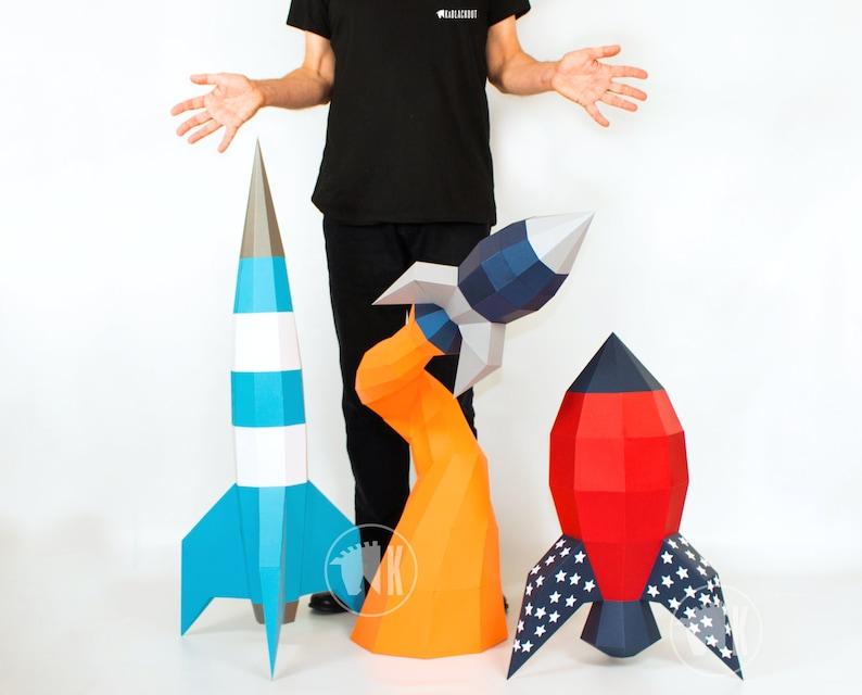 XL Papercraft Rocket Discount Offer 3D Papercraft Rocket image 0