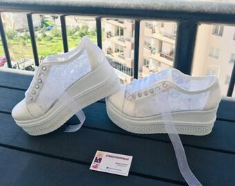 7ed5ff762fa Bridal sneakers | Etsy