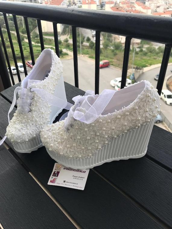 ChaussuresBrautschuhePerle Damenschuhe Hochzeit ChaussuresPlattform Braut Heels Spitze 8wPkn0OX