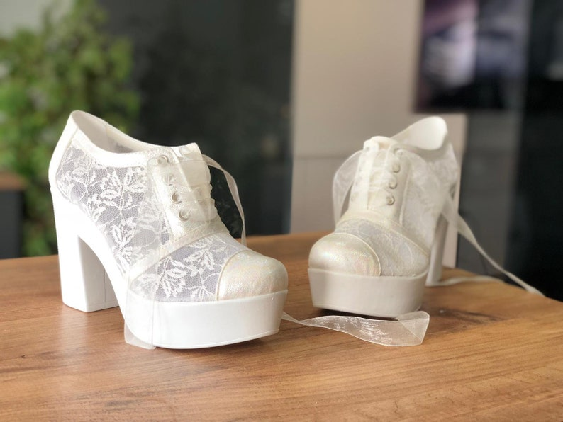 85734c8914f8 Wedding Heeled Shoes Lace Shoes Bridal Shoes Women s