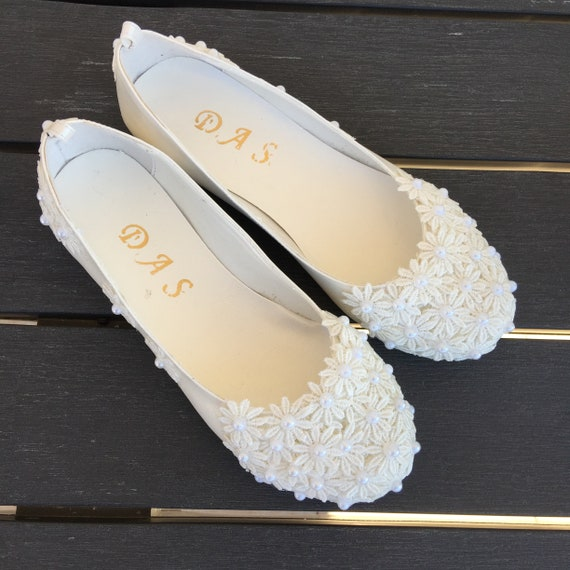 Wedding Shoes Bridal Ballet Shoes Lace Wedding Shoes Womens Wedding Shoes Weddings Wedding Flats Lace Wedding Flats Bridal Shoes