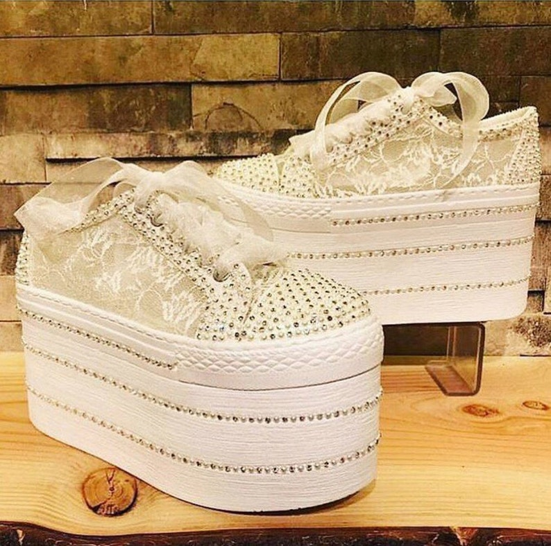 52169f6746f9 Lace Wedding Shoes Lace Shoes Bridal Shoes Bling Shoes
