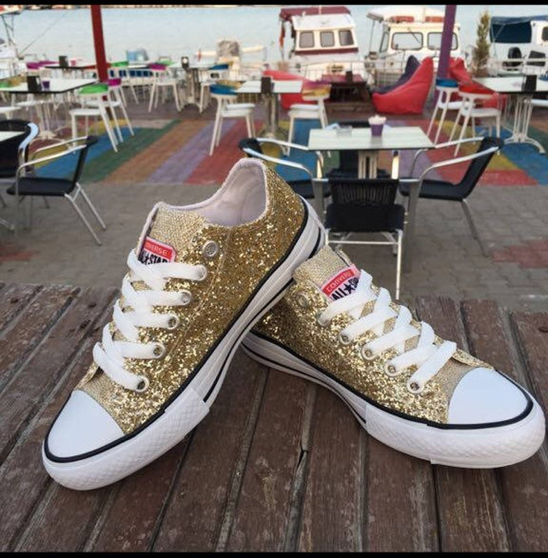 Wedding Converse Wedding Shoes Bridal Sneakers Bling Shoes  7d1686c30