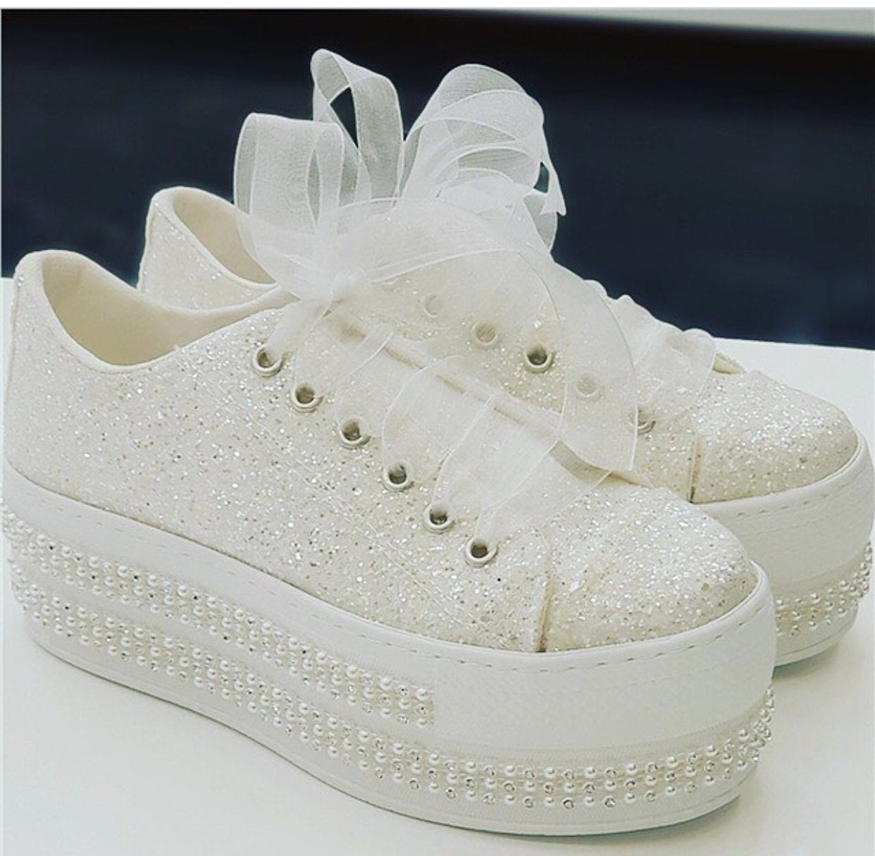 Wedding Sport Shoes Wedding Shoes Bridal Sneakers Bling