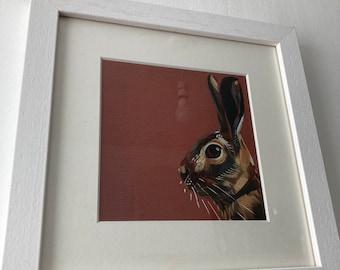 Framed Print Hare Dusk