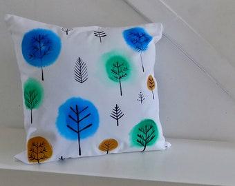 Hand painted summer fresh cushion
