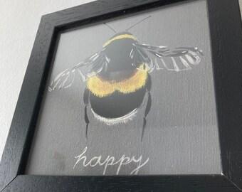 Framed Print Bee Grey